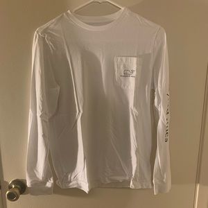 Vineyard Vines White Pocket Longsleeve Tee